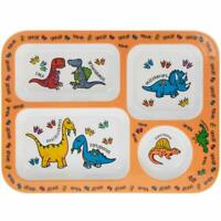 Little Stars Orange Dinosaur Children Section Tray Dinner Lunch Plate Melamine