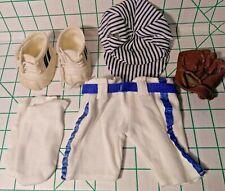 "THT 12"" BEAR CLOTHES - SHOES, SOCKS, PANTS, HAT, BASEBALL MITT - TENDER HEART"