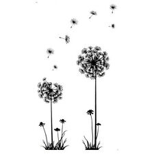 Black Creative PVC Dandelion Flower Plant Tree Large Removable Home Wall Decal