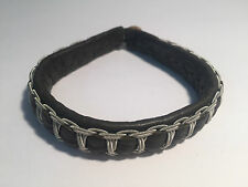 New - SAAMI CRAFTS Pulsera Piel Khaki & Plata -  Khaki Leather & Silver Bracelet