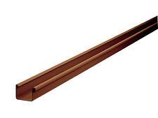 Dachrinne kastenförmig 200 cm PVC NW 83, 1 Stück Braun INEFA ® für Gartenhaus