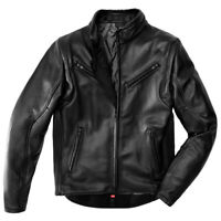 SPIDI PREMIUM CE MENS BLACK LEATHER WATER RESISTANT MOTORCYCLE MOTORBIKE JACKET
