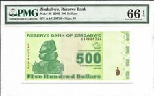 Zimbabwe, 500 Dollars, 2009, P-98, Uncirculated PMG 66 EPQ