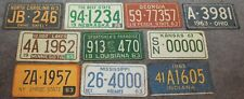 VINTAGE WHEATIES LOT OF 10 1963 LICENSE PLATE STICKERS