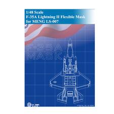 GALAXY D48003 1/48 F-35A Lightning II DieCut Flexible Mask for MENG LS-007 Model