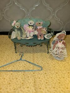 Lot of  4 Cottage Collectibles miniatures with tags COA