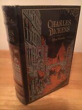 CHARLES DICKENS FIVE NOVELS LEATHER BOUND HARDBACK BOOK
