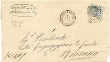 P8898   Ravenna, Bagnacavallo, annullo numerale a punti, 1867