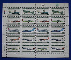 Marshall Islands (#791) 2001 Classic Airplanes MNH sheet