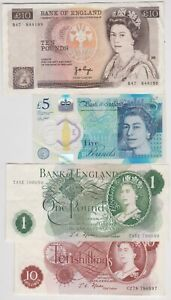 FFORDE 10/-, FFORDE £1, CLELAND £5 & PAGE £10 IN EXTREMELY FINE CONDITION