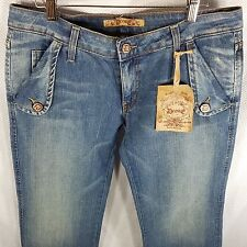 New Decree Blue Jeans Boot Cut Trouser Style 13 Stretch Denim Made In USA