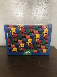 """Vintage Bears Brigade Springbok Jigsaw Puzzle 48 Pieces / Crayola /12""""x17"""" /rare"""