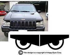 1993-98 Jeep Grand Cherokee ZJ Angry Eyes Mad Headlight Decals BAD BOY COOL!  V3