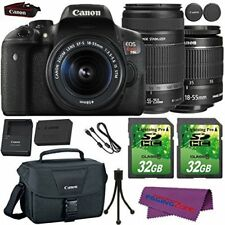 Canon EOS Rebel T6i DSLR Camera with (2) Lens Kit + Deluxe Accessory Bundle