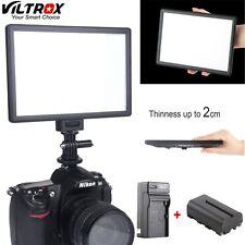 Viltrox L116T Bi-Color Dimmable Slim Video LED Light+Battery for Canon Nikon