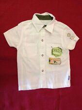 Original Marines - Camicia a maniche corte - color panna - lino e cotone - USATA
