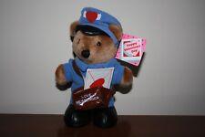 """Vintage Dakin Valentine's Day Love Messenger Teddy Bear Postman 7"""""""
