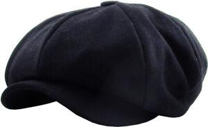 Oversized Solid Applejack Wool Blend Newsboy Gatsby Ivy Hat Golf Driver As