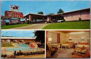 St. Joseph, Missouri Postcard PONY EXPRESS MOTEL Multi-View c1950s Chrome Unused
