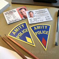 Jaws - Prop Martin Brody Police Warrant ID Cards & Amity Police Equipment Decals