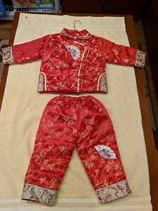 ChineseToddler Outfit Red Size L, New With Tags, Thick for Warmth, Silk