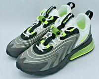 Nike Air Max 270 React ENG Grey Volt Black White Mens Size 9.5 CW2623-001 NEW