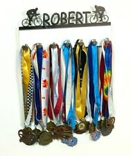 Custom Personalized Name Medal Holder Cycling Bicycling Award Display Hanger