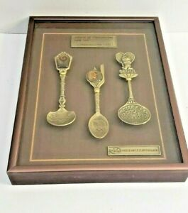 Games Of The Xxivth Olympiad Seoul Korea 1988 Commemorative Spoon Set Framed