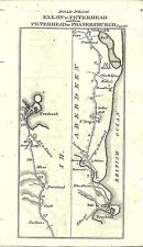 Antique map, Ellon to Peterhead (2)