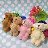 5pcs Teddy Bear Mini Collectible Plush Character Soft Toy Stuffed Doll Kids Gift