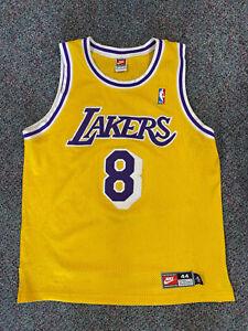 Los Angeles Lakers Kobe Bryant Nike Authentic Vintage Vtg Jersey Yellow OG 44