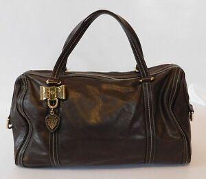 Gucci Duchessa Boston Bag Womens Large Leather Handbag Purse 100% Authentic
