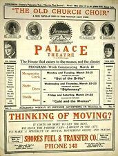 1916 Palace Theatre Paramount Silent Film Movie Programs Sheet Music Waterloo IA