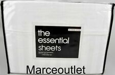 New listing Department Store The Essential Sheets Organic Cotton Twin Sheet Set White