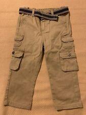 Wrangler Khaki Cargo Pants With Belt Toddler 3T