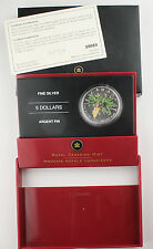 Canada 2005 Colored 1 Oz 9999 Silver Maple Leaf Coin +BOX & COA GEM
