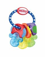 Nuby Icy Bite Keys Teether, Multi Blue