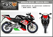 ADESIVI stickers moto KIT per APRILIA RS 125 2006 replica RSV4 v2 base nero