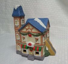 Santa's Best Christmas Village House Ceramic Vintage 1995 Victorian home