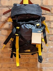 The North Face Steep Tech Pack Backpack Canadian Grey TNF Black Lightning Yellow