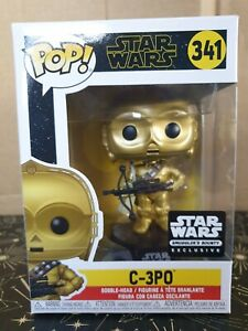 Funko Pop Vinyl - Star Wars #341 C-3PO Bowcaster - new - Smuggler's Bounty Excl
