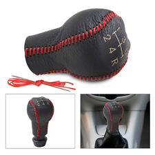 Leather 5-Speed Gear Shift Knob Cover for Peugeot 307 3008 406 605 Citroen C2 C4