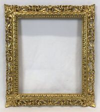 Antique Early 20th C Italian Florentine Ornate Gold Gilt Frame 11 x 13 Opening
