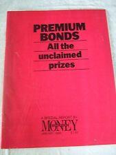 Rare Collectable Observer Money Premium Bonds unclaimed prizes report 1986
