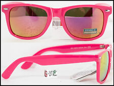 Occhiali Da Sole Uomo Donna Nerd Cool Lenti Specchio Rosa Pink UK SURF KITE GEEK