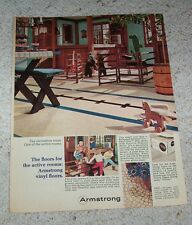 1966 print ad page - Armstrong's vinyl floors flooring family room vintage AD