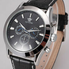 OUYAWEI Mens Black Day Date Mechanical Automatic Self Winding Wrist Watch X101