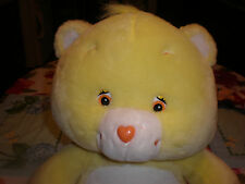 "RETIRED  JUMBO FUNSHINE   BEAR CARE BEAR PLUSH 19"" TALL"