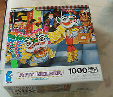 "Ceaco Puzzle Amy Nelder "" Lunar Parade"" Chinese New Year 1000 pc Used"