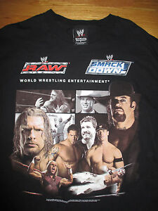 2005 RAW Smack Down (LG) T-Shirt JOHN CENA REY MYSTERIO THE UNDERTAKER